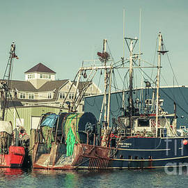 Fishing boats in Gloucester by Claudia M Photography