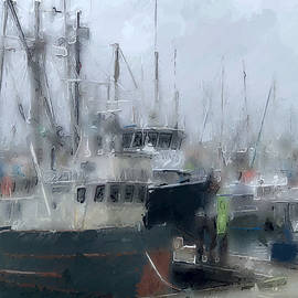Fishing boats in the fog by Tatiana Travelways