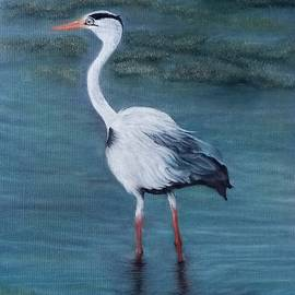 Fishing Crane  by Maria Abeyesekere