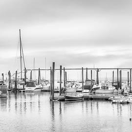 Fishing Harbor in Black and White by Joann Vitali