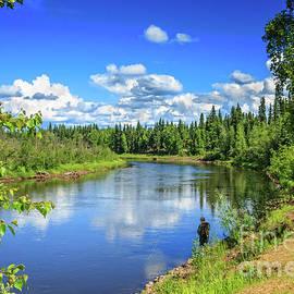 Fishing The Chena River by Robert Bales