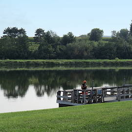 Fishing The Hillsboro Pond by Kay Novy