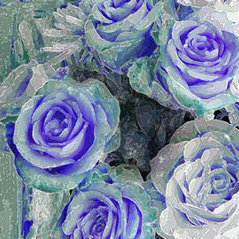 Five Roses of Violet and Green by Corinne Carroll
