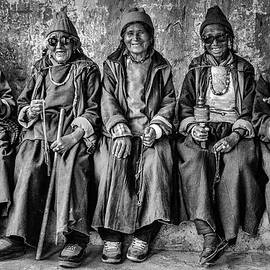 Five women monochrome by Murray Rudd