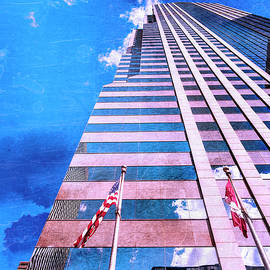 FLAGS OF PRUDENTIAL Prudential Plaza Chicago by William Dey
