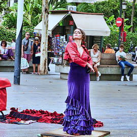 Flamenco in the Park - Seville by Allen Beatty