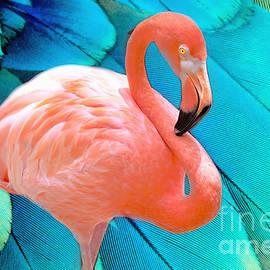 Flamingo Pop Art by Diann Fisher