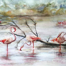 Flamingos by Agnieszka Kowalska Rustica Art