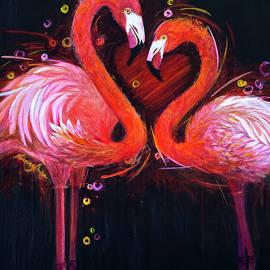 Flamingos  by Nancy Shen