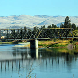 Flathead River bridge by Brenda Bolton