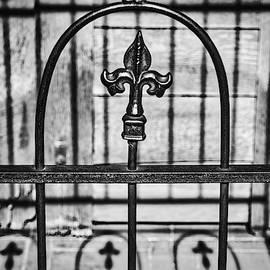 Fleur De Lis Fence and Shadows by Stuart Litoff