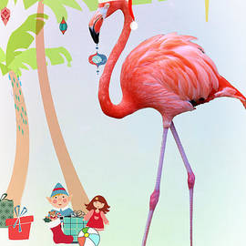 Flip Flop Flamingo Christmas by Diann Fisher