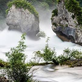 Flooding Over The Rheinfall by Hugh Warren