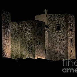 Floodlit 11th century Norman castle, Melfi, Potenza Province, Basilicata, Italy - 1 by Terence Kerr