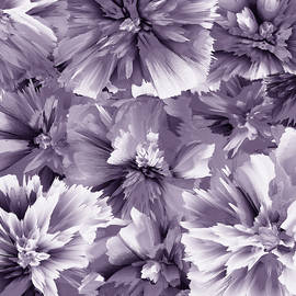 Floral Abstraction - monochromatic      colorway  by Grace Iradian