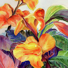 Floral, Colorful Flowers to add a splash of color, Watercolor Chicago Botanic Garden Flowe by Paula Nathan