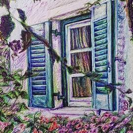 Floral Window Drawing  by Aya Yahia
