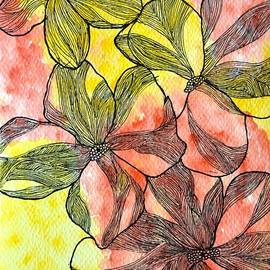 Floral Zentangle drawing by Sonali Gangane
