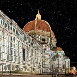 Florence Cathedral at night by Alexey Stiop