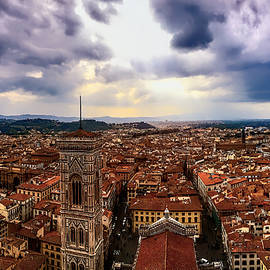 Florence Cityscape From The Duomo  by Rachel League