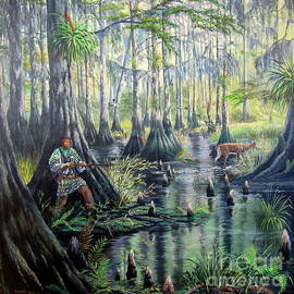 Florida Seminole Indians-Shadows Amongst the Shadows by Daniel Butler