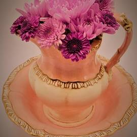 Pitcher, Bowl of Flowers