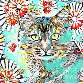 Flower Power Kitten by Tina LeCour