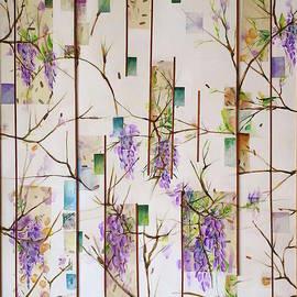 Flowering wisteria by Carolina Prieto Moreno