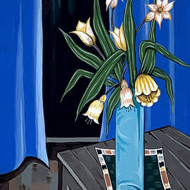 Flowers at a Dark Window by Tara Hutton