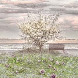 Flowers at the Dunes in Soft Cottage Hues by Debra and Dave Vanderlaan