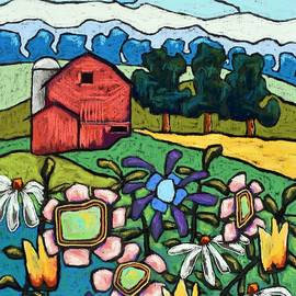 Flowers down on the Farm by David Hinds