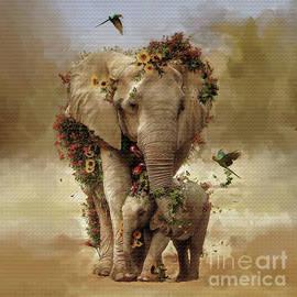 Flowers Elephant  by Gull G