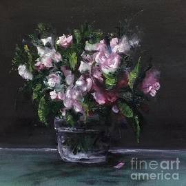 Flowers in a Glass Jar  by Lizzy Forrester