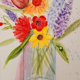 Flowers in a Jar #2 by Terry Feather