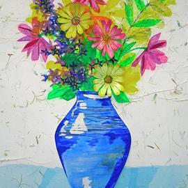 Periwinkle Pottery Bouquet by Janie Easley Ballard