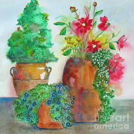 Spring Season Terracotta Pottery by Janie Easley Ballard