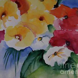 Flowers Yellow Red by Johanna Zettler