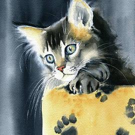 Fluffy Kitten Painting by Dora Hathazi Mendes