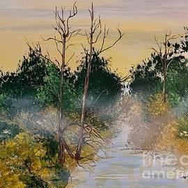 Fog Across Stream by Inez Ellen Titchenal