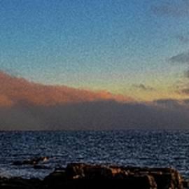 Fog Bank Panorama at Acadias Schoodic Peninsula by Marty Saccone