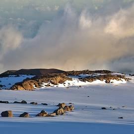 Fog Rising Mauna Kea by Heidi Fickinger