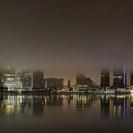 Foggy Detroit Skyline by Dave by Photography By Phos3 Kathryn Parent and Dave Paddick