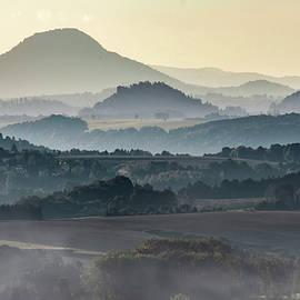 Foggy morning in Bastei by Jaroslaw Blaminsky