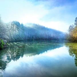 Foggy Spring Reflections by Debra and Dave Vanderlaan