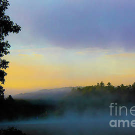 Foggy Sunrise Lake by Todd Musser
