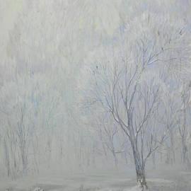 Foggy Winter Landscape by Olena Kishkurno