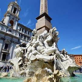 Fontana dei Quattro Fiumi, Piazza Navona, Rome by Joe Vella