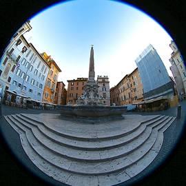 Fontana del Pantheon, Piazza della Rotonda, Rome, Italy. by Joe Vella