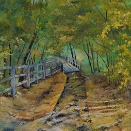Footpath Through Thacher State Park NY by Barbara Moak