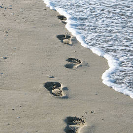 Footprints in the Sand by Alex Mir